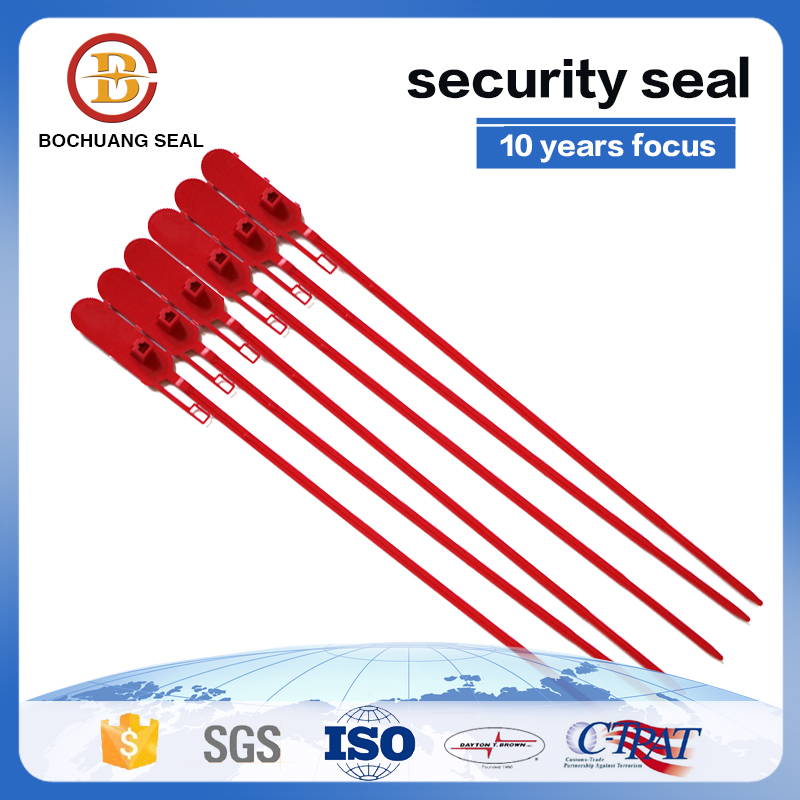 pull tight plastic seal for shipping security