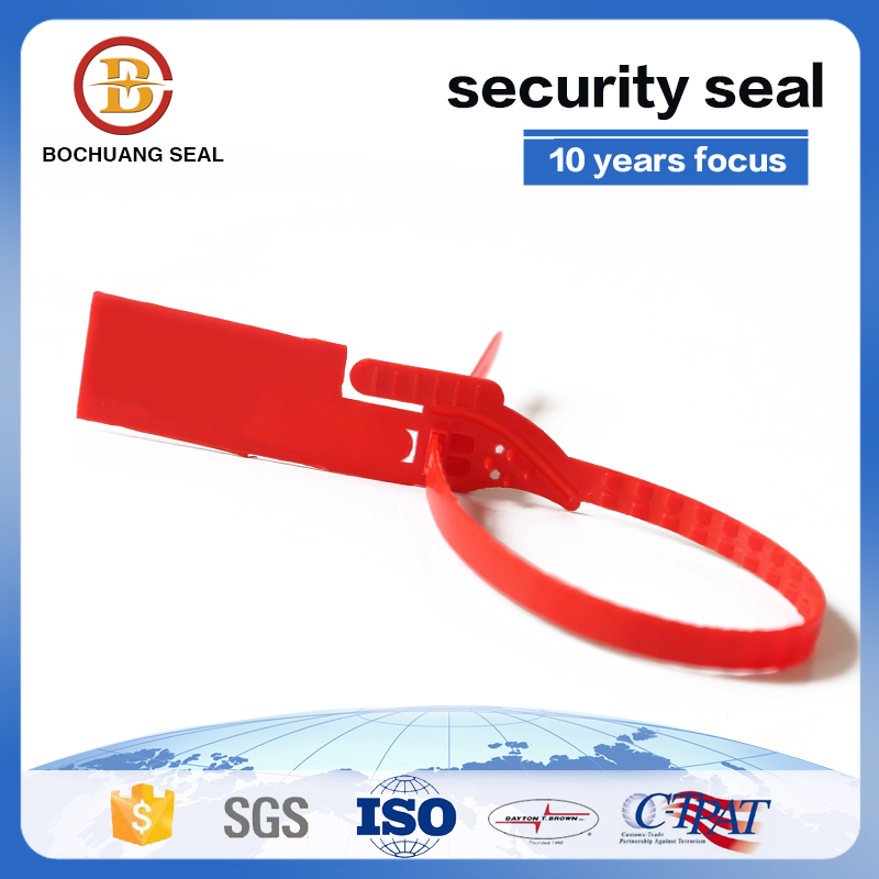 Tear Off Plastic Tamper Proof Seal Color Available