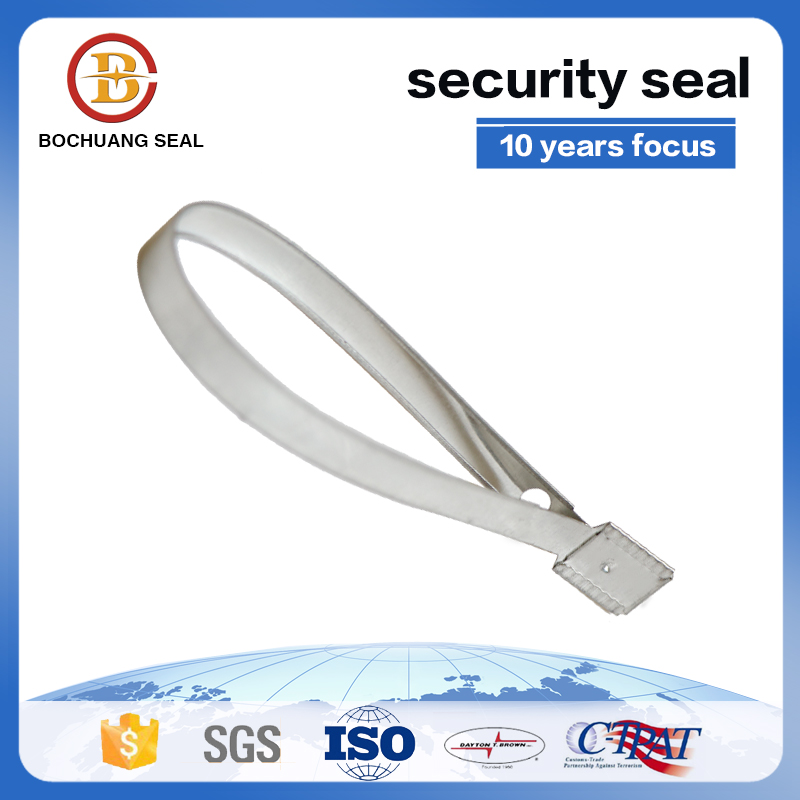 Consequential Number Embossed Metal Strap Seal,Metal Strap Cable Tie
