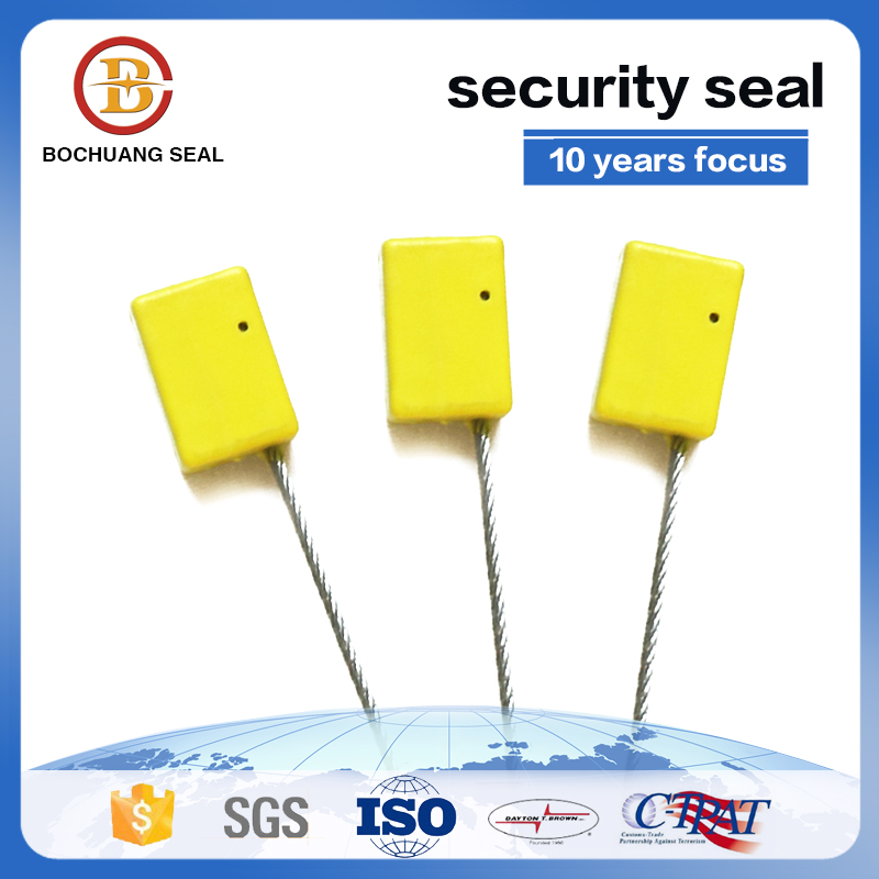 Tamper evident security cable seal for oil industrial