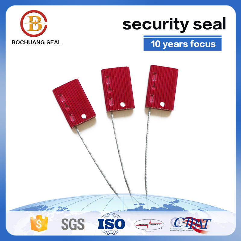 Security Airline Cable Seal for Container , Pull Tight Cable Sealing