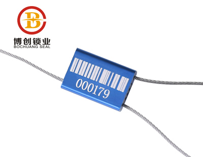 BC-C202 Security Airline Cable Seal for Container , Pull Tight Cable Sealing