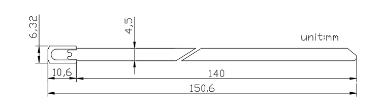 truck fixed length metal strap seal CAD